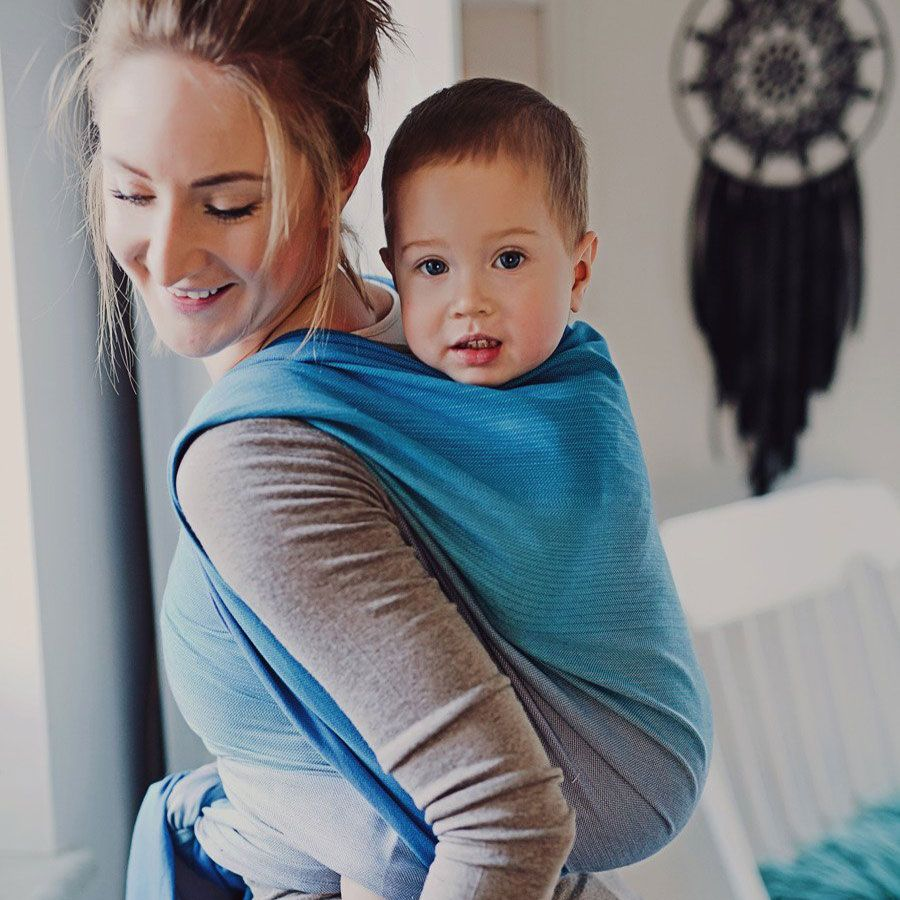Little Frog Woven Wraps are great for toddler carrying