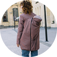 Love & Carry 4 In 1 Babywearing Parka Burgundy