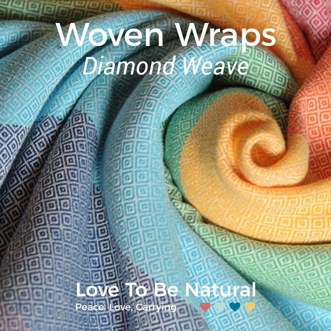 Diamond weave woven wraps