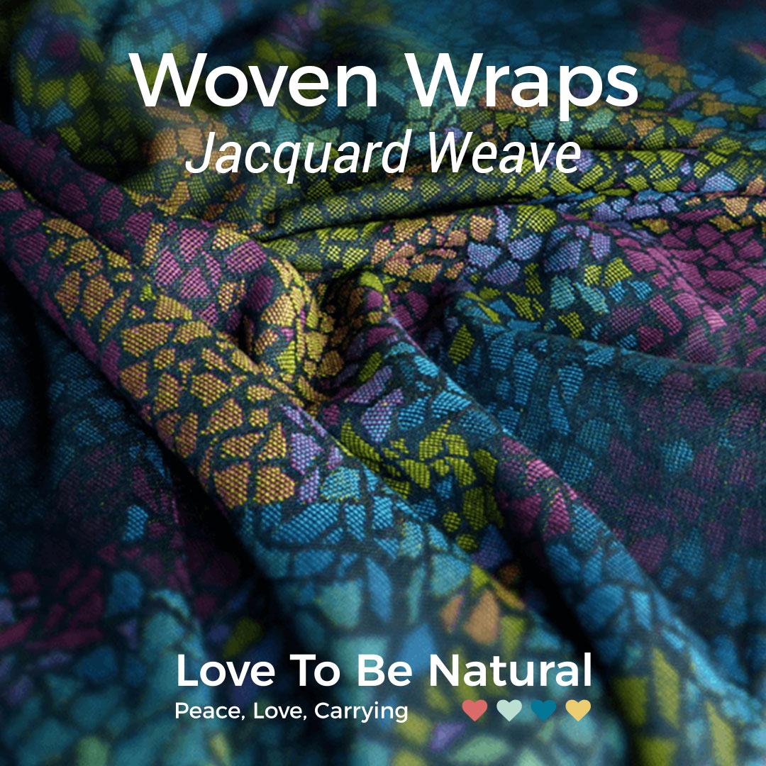 Jaquard woven wraps