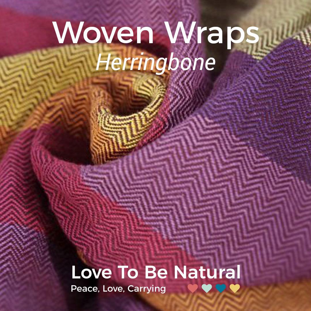 Herringbone woven wraps