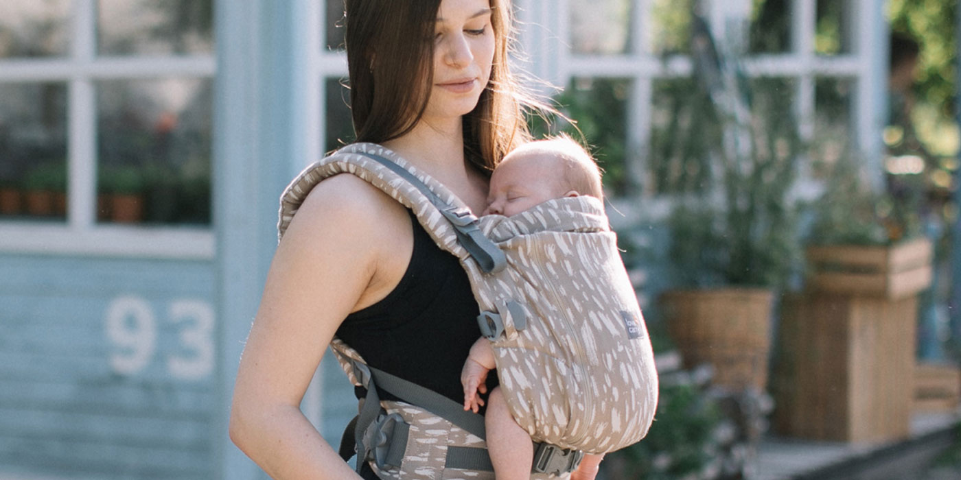 The Love And Carry One Plus Baby Carrier is great for newborns