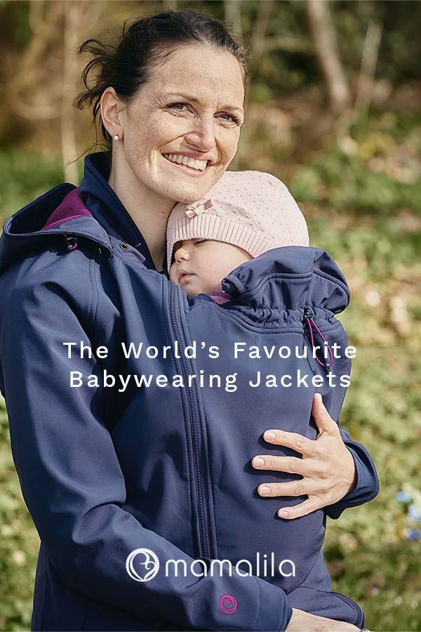 Mamalila Babywearing Jackets are the perfect outdoor babywearing accessory.