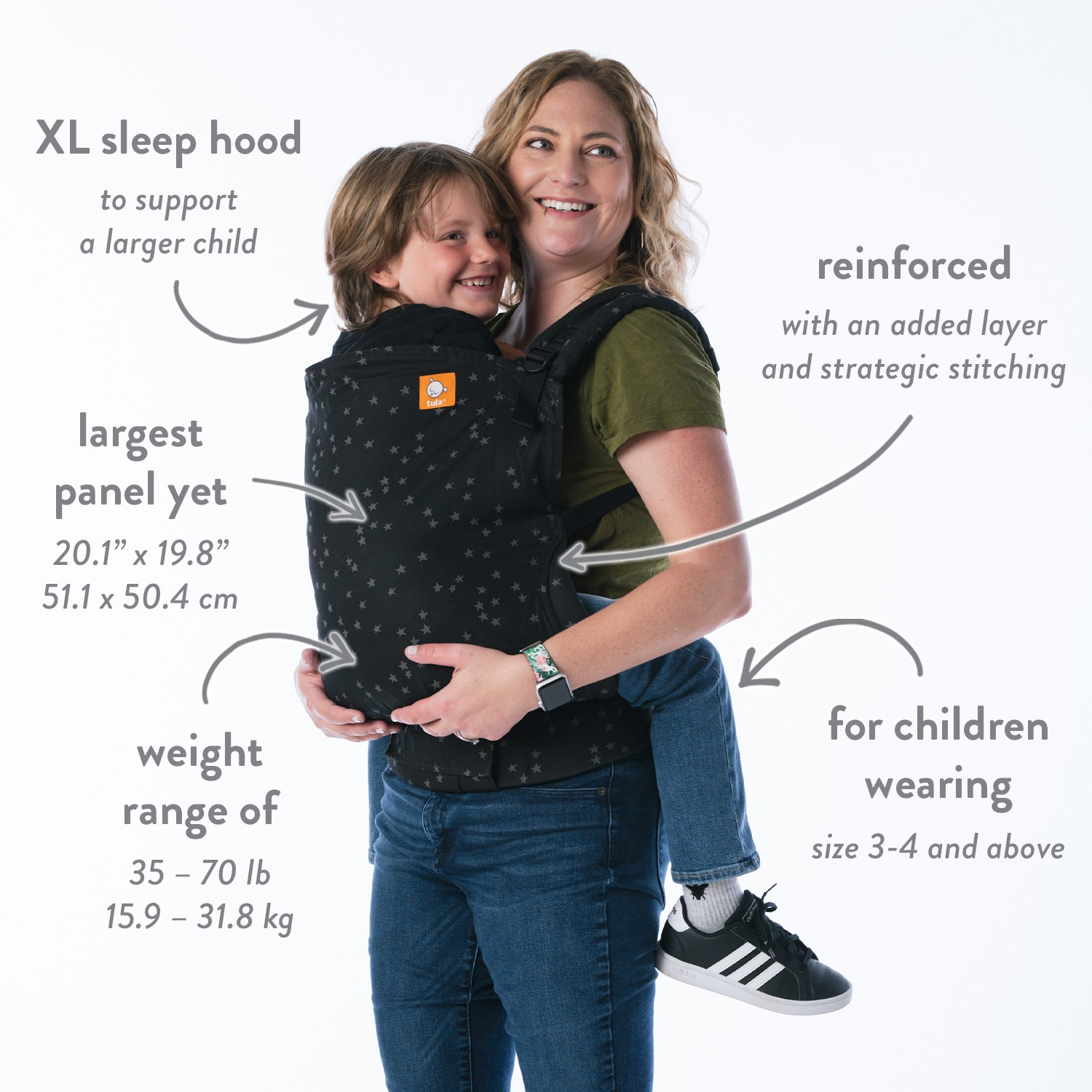 Tula Preschool Carrier Review Infographic